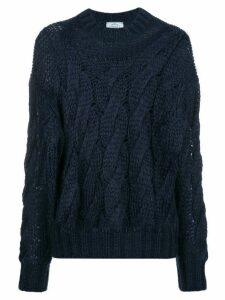 Prada cable-knit jumper - Blue