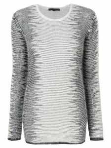 Alexander Wang Frayed Tunic sweater - White