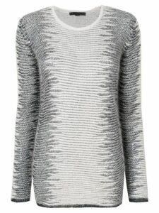 Alexander Wang Frayed Tunic sweater - White