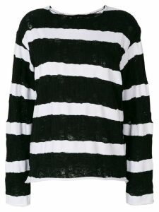 RtA striped jumper - Black