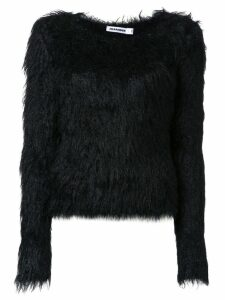 Jil Sander furry knitwear - Black