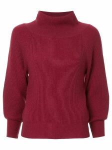 Ryan Roche off-shoulder sweater - Red