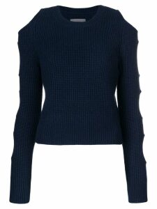 Zoe Jordan cutout ribbed knit jumper - Blue