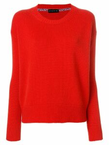 Etro ribbed detail jumper - Red
