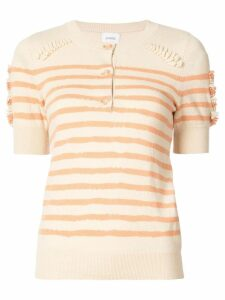 Barrie striped button jumper - Yellow