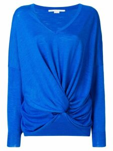 Stella McCartney knotted front jumper - Blue