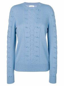 Barrie cut-out crew neck cashmere jumper - Blue
