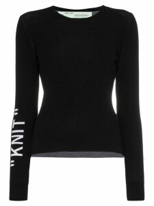 Off-White 'knit' round neck jumper - Black