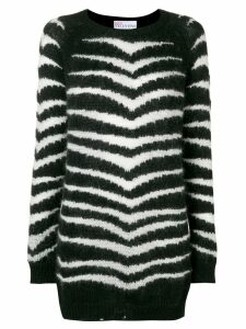 Red Valentino zebra stripe sweater - Black