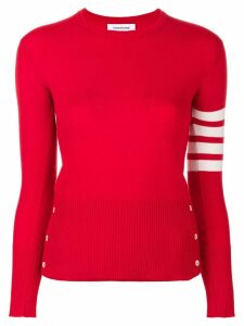 Thom Browne Classic crew neck Pullover Cashmere with 4-Bar Sleeve