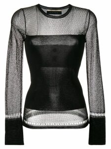 Roland Mouret sheer panels jumper - Black