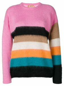 Nº21 striped mohair-blend jumper - Multicolour