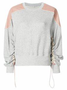 Stella McCartney ruched sleeve sweatshirt - Grey