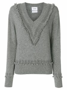 Barrie Romantic Timeless cashmere V neck pullover - Grey