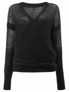 Ilaria Nistri v-neck jumper - Black