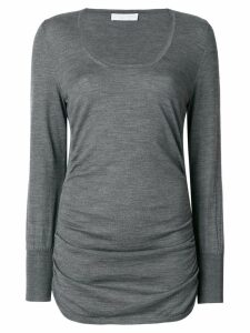 Le Tricot Perugia ruched sides sweater - Grey