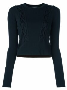 Neil Barrett cable knitted jumper - Black