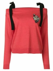 Rochas embellished jumper - Red