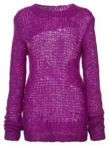 Helmut Lang distressed knit sweater - Pink