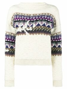 Isabel Marant Étoile Elsey fair-isle knit sweater - Multicolour