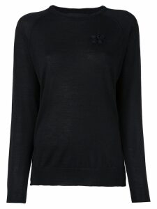 Simone Rocha embroidered detail sweater - Black