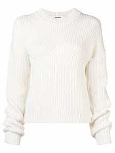 Jil Sander ribbed jumper - White