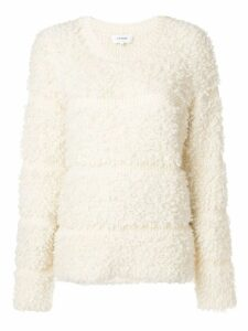 Carven striped detail jumper - White