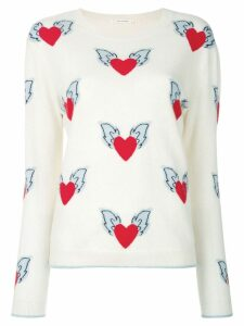 Chinti & Parker Juliet heart jumper - Neutrals