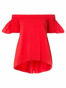 Goen.J off-the-shoulder poplin blouse - Red