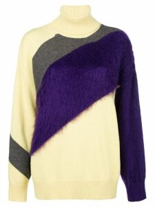 Nº21 colour-block roll neck sweater - Yellow