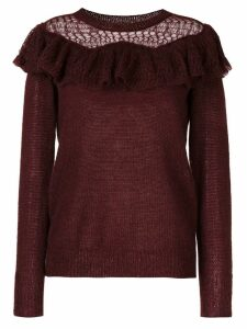 Stella McCartney ruffle-trimmed jumper - Red