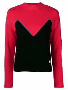 MSGM colour-block sweater - Red