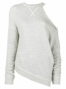 R13 cut-out shoulder jumper - Grey