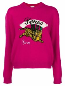 Kenzo embroidered tiger sweater - Pink