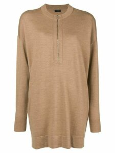 Joseph oversized zipped sweater - Brown
