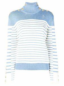 JW Anderson striped turtleneck sweater - Blue