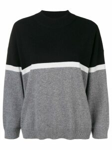 Sonia Rykiel two-tone knit jumper - Black
