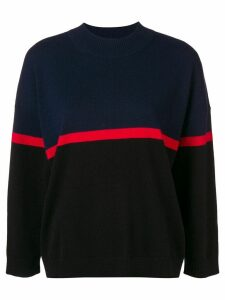 Sonia Rykiel stripe detail jumper - Blue