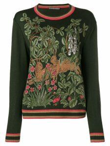 Alberta Ferretti intarsia-knit jumper - Green