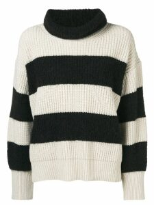 Dorothee Schumacher striped turtleneck knit - Black