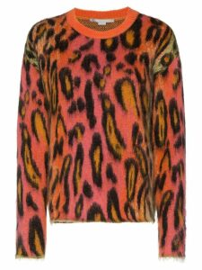 Stella McCartney leopard print mohair jumper - 8490 - Multicolours