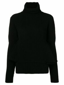 Antonio Berardi ruffle sleeve sweater - Black