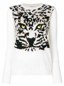 Sonia Rykiel Tiger knit jumper - White