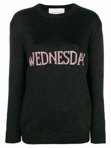 Alberta Ferretti Wednesday knit jumper - Black
