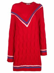 Vivetta contrast V knit jumper - Red