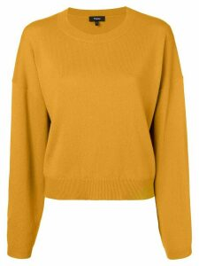 Theory cashmere crew neck sweater - ORANGE