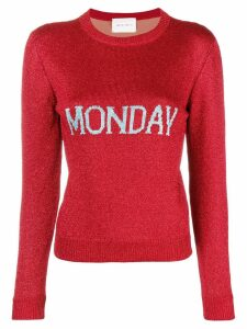 Alberta Ferretti Monday knit jumper - Red