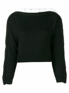 Philosophy Di Lorenzo Serafini boat neck volant sweater - Black