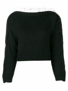 Philosophy Di Lorenzo Serafini boat neck volant sweater - Black