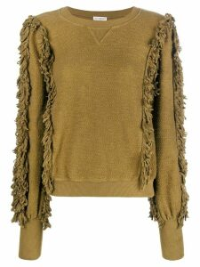 Ulla Johnson fringed knit sweater - Green